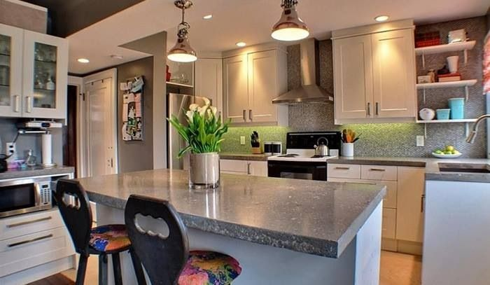Best Custom Kitchen With Ikea Cabinets And Concrete Countertops 400 x 300