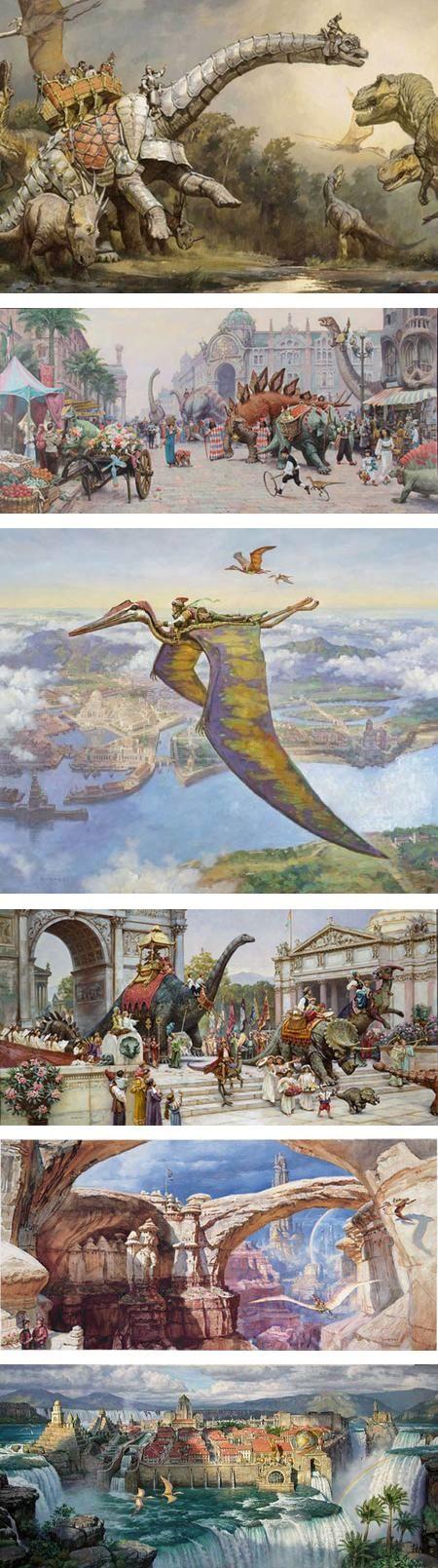 James Gurney Blog : james, gurney, Dinotopia:, Fantastical, James, Gurney, Stamford, Museum, Lines, Colors, About, Drawing,, Painting,, Illustrati…, Dinosaur, Concept
