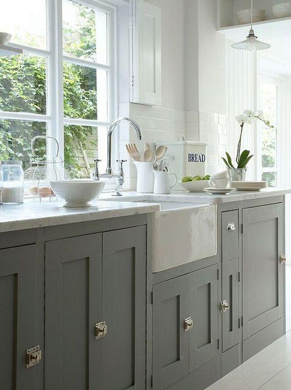 Dégradés de gris dans la cuisine! 38 exemples pour vous inspirer…