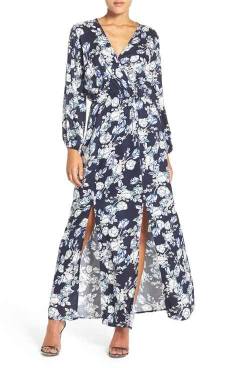 Fraiche by J Print Blouson Maxi Dress