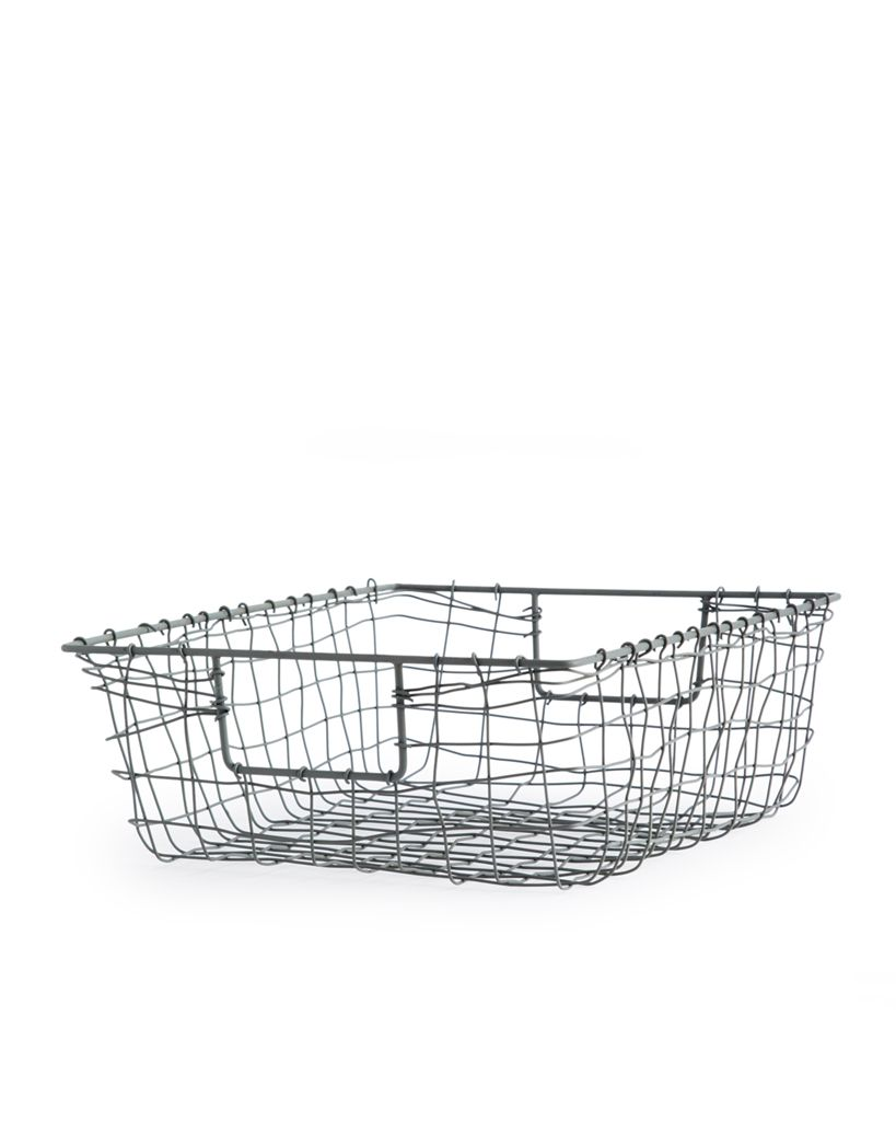 Small Metal Wire Mesh Basket/Tray - Fog Linen - Nalata Nalata | N ...