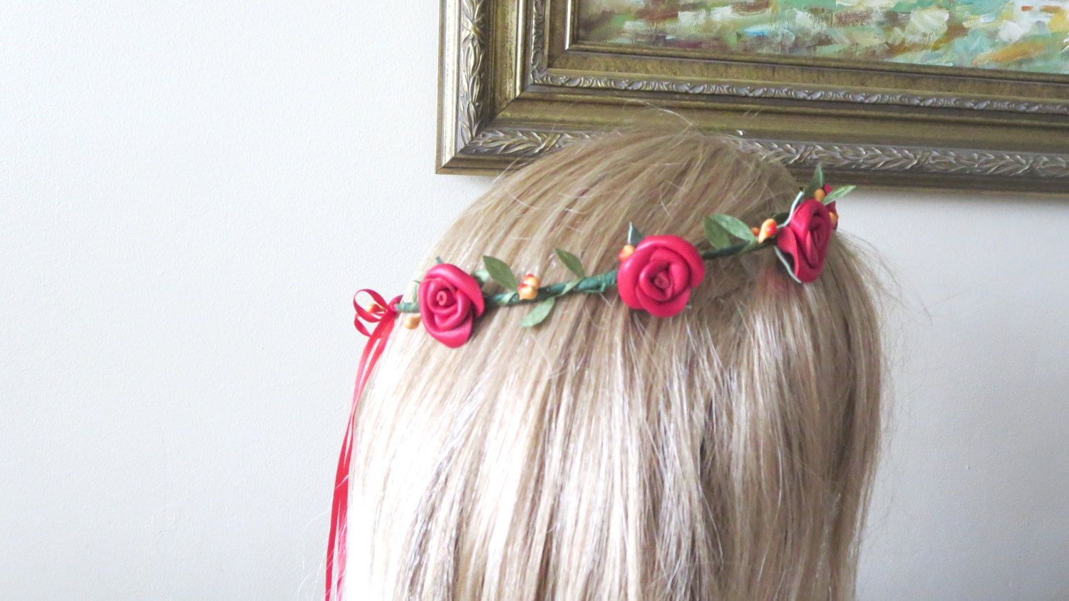 Today Sale Flower Crown Headband Wedding Accessory Colorful