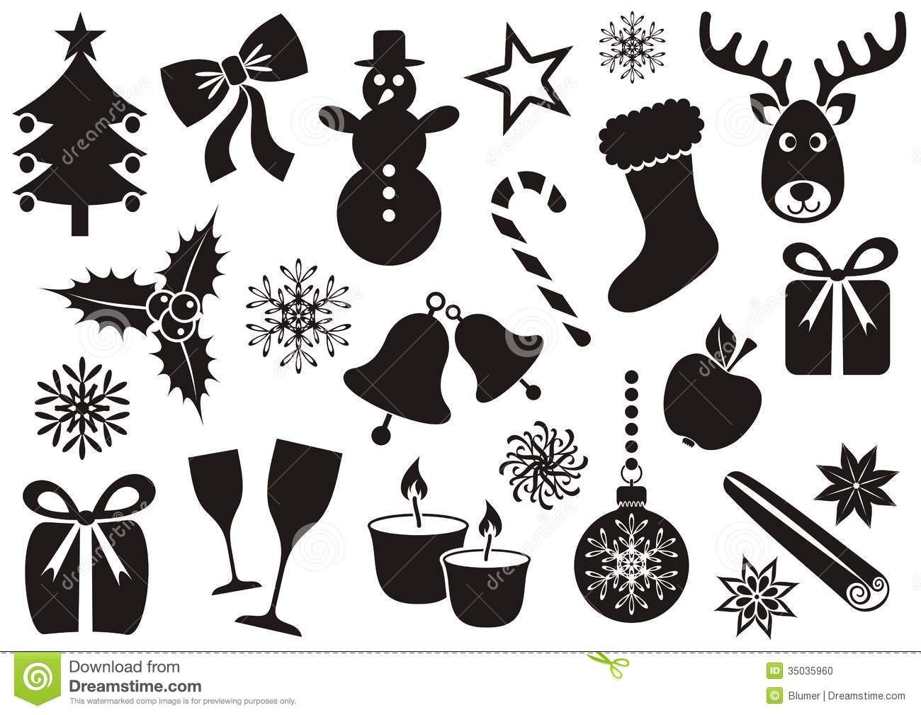 Christmas Vector Silhouette Silhouette Christmas Ornaments Silhouette Christmas Ornaments Image
