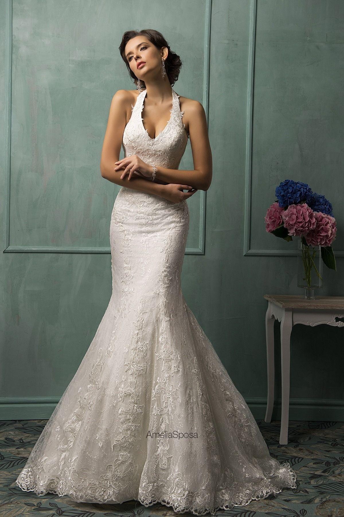 Katie Marie Weddings Halter top wedding dress, Amelia