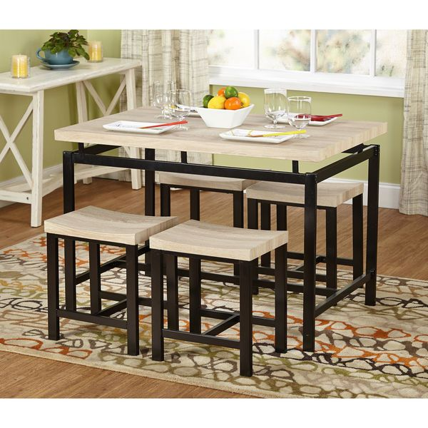 5 Pc Breakfast Dining Room Nook Patio Table Seat Stool Kitchen Enchanting Two Toned Dining Room Sets Design Ideas