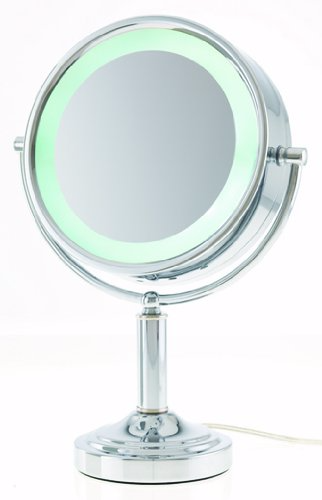 Amazon Com Danielle Led Lighted Two Sided Makeup Mirror 15x Magnification Chrome Personal Makeup Mirrors Makeup Mirror Mirror Makeup Mirror With Lights 15x magnifying mirror with lights