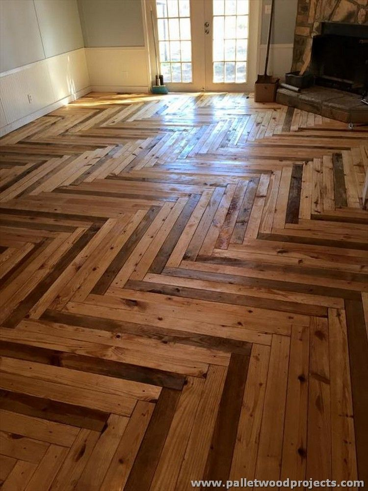 Chevron Style Pallet Flooring More