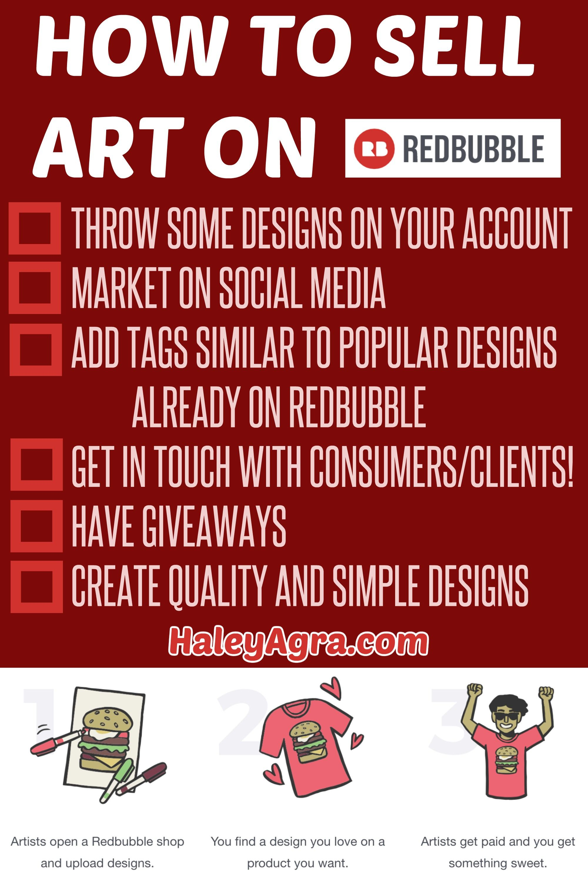 How To Sell Art On Redbubble Selling Art Redbubble Things To Sell