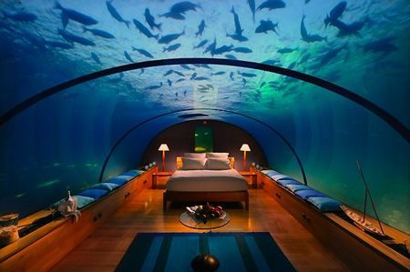 Living your life at the bottom of sea - total luxury and happy as can be!! #dubai #uae