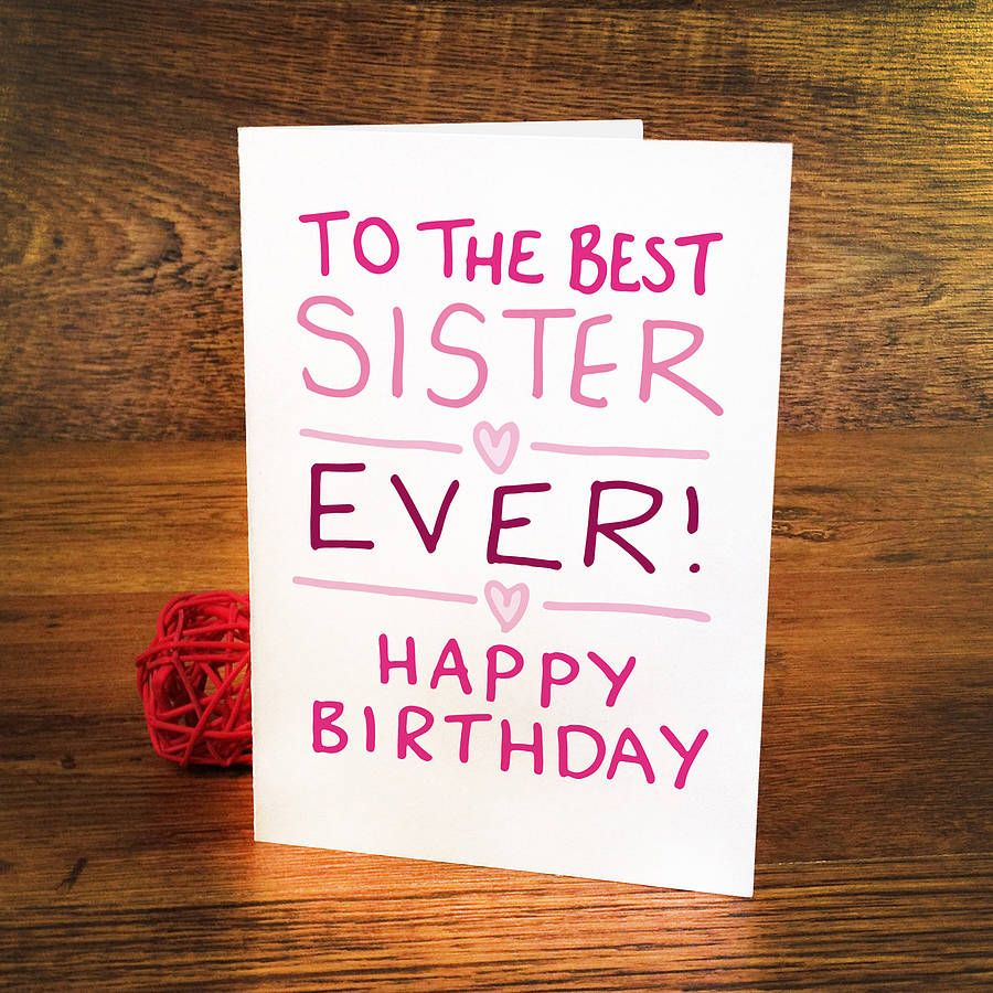 Birthday Card For Sister Gifts Pinterest Birthdays Sister