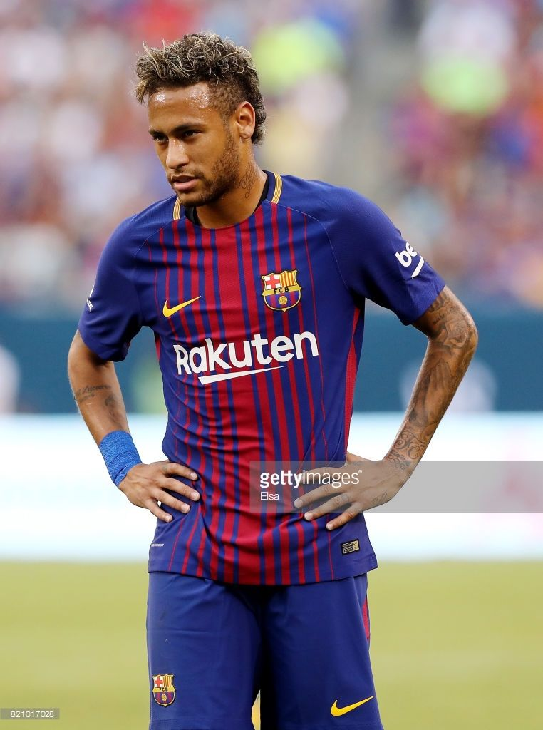 28b5b5f92 Neymar  11 of Barcelona reacts to a missed shot in the first half against  Juventus during the International Champions Cup 2017 on July 22
