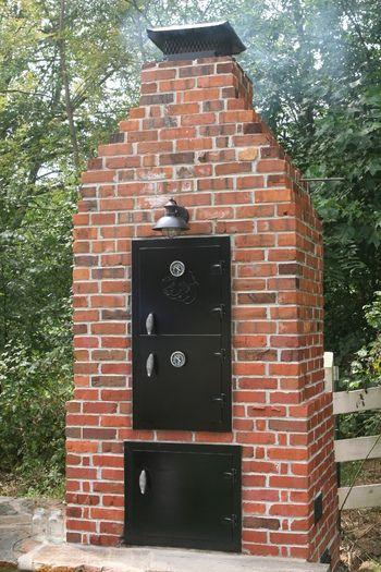 Brick smoker - Compete how to | Brick smoker, Brick bbq ...