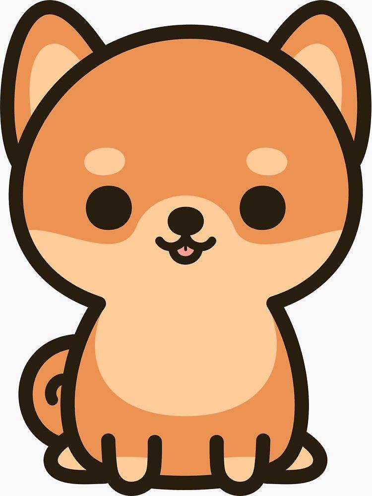 Cute Shiba Inu Sticker By Peppermintpopuk Redbubble Cute Kawaii Drawings Cute Little Drawings Kawaii Doodles