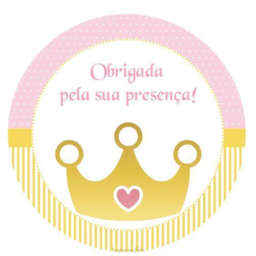"Princesa ""Coroa dourada"" – Kit festa grátis para imprimir ..."