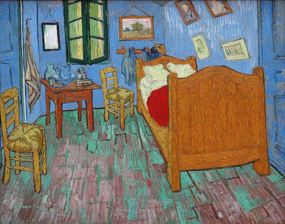 The Bedroom (Vincent Van Gogh-1889) | Art Institute of Chicago ...