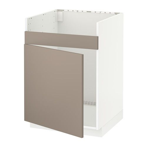metod l ment pour vier domsj 1 bac noir ubbalt beige fonc viers bac et ikea. Black Bedroom Furniture Sets. Home Design Ideas