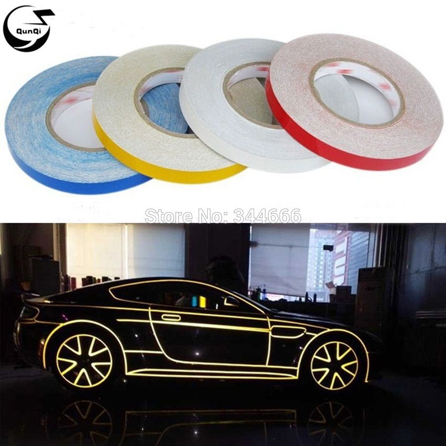 Car sticker maker app - 45m 1cm Car Styling Reflective Tape Funny Diy Stickers Warning Safety Auto Motorcycle Bike Decal