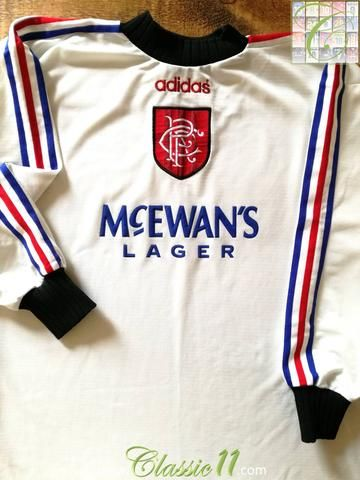 Official Adidas Glasgow Rangers goalkeeper football shirt from the  1996 1997 season. 0aacd7a01