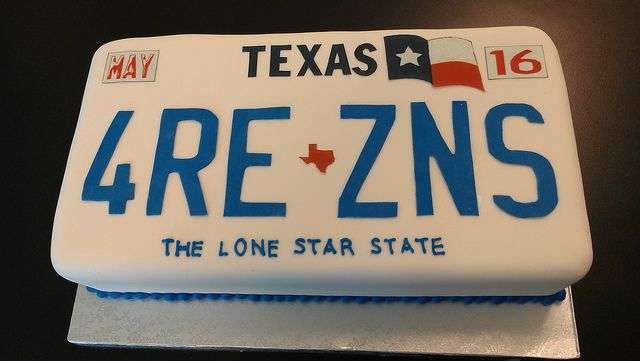 Texas License Plate Cake With Images Boys 16th Birthday Cake