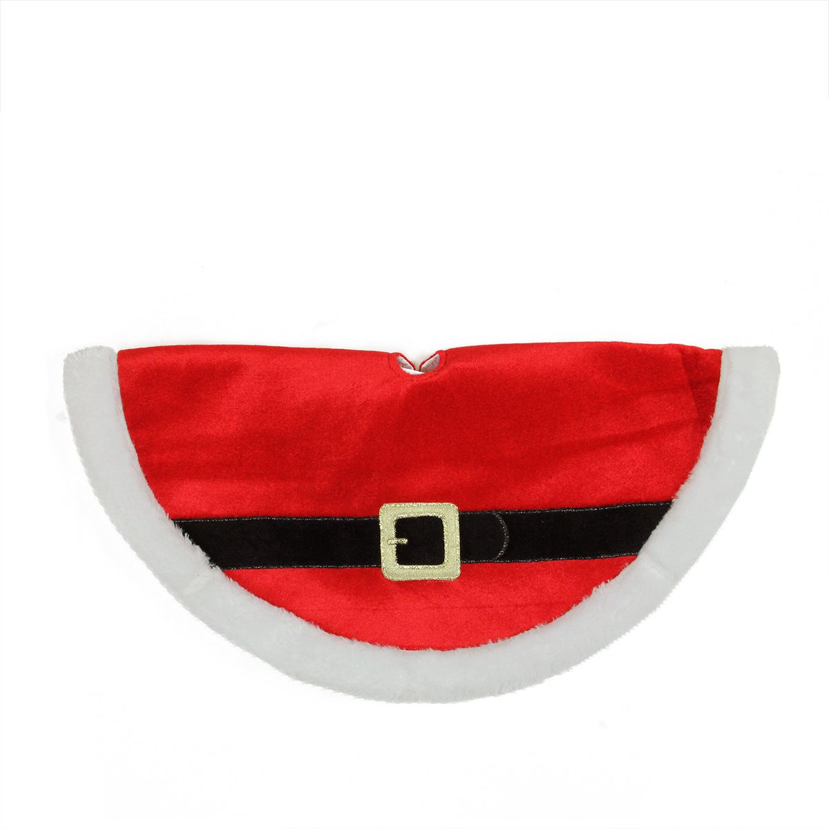 "20"" Traditional Red and White Santa Claus Belt Buckle Mini Christmas Tree Skirt   Mini christmas ..."