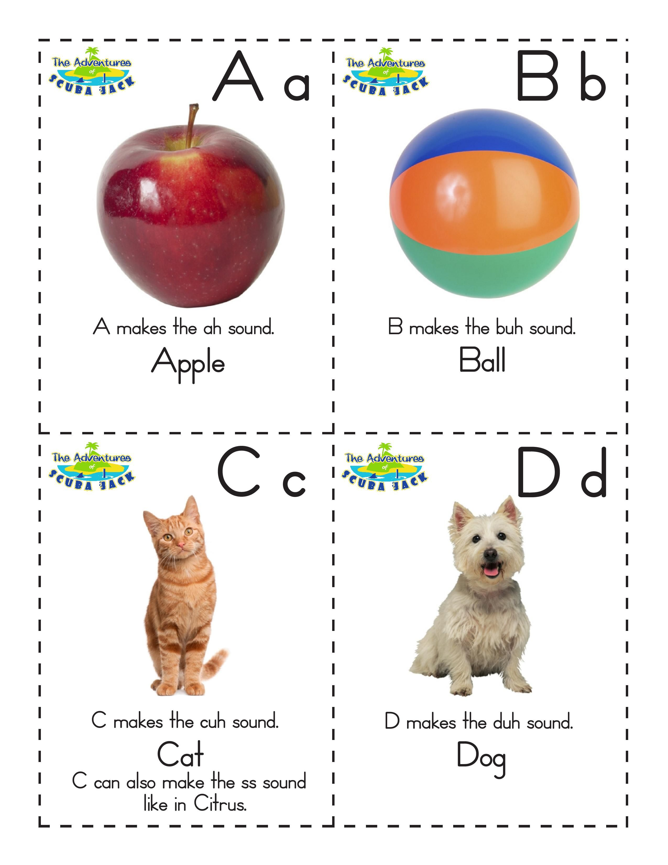Free Educational Alphabet Flash Cards For Kids In