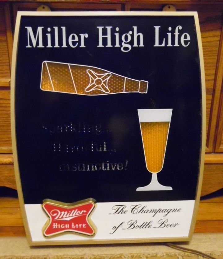 Vintage 1950s miller high life miller light up motion beer sign vintage 1950s miller high life miller light up motion beer sign malvernweather Choice Image