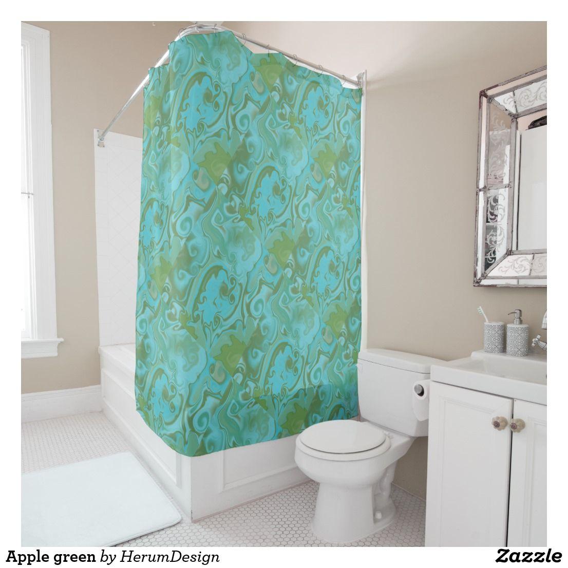 Apple Green Shower Curtain Zazzle Com