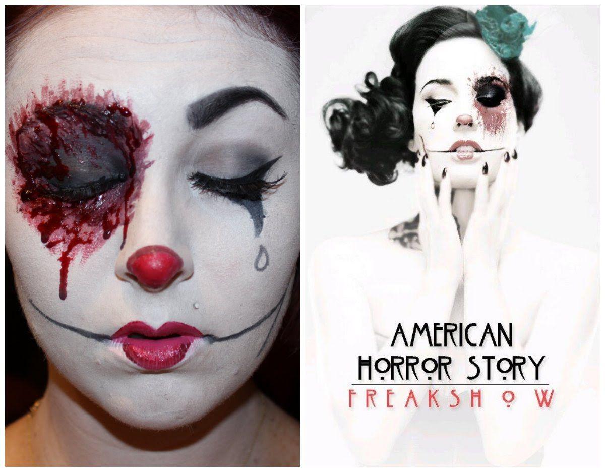 American horror story freakshow makeup tutorial costumes for Tattoo freak costume