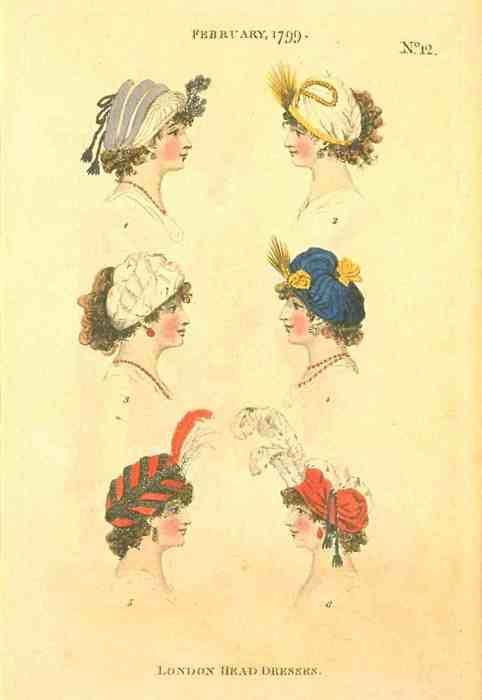 London Head Dresses, February 1799