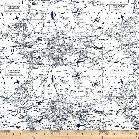 Ships same day premier prints air traffic premier navy for Airplane fabric by the yard