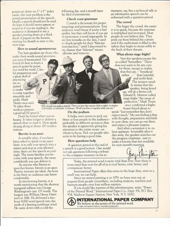 1982 Advertisement 2 Pages International Paper Company