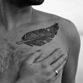 50 bone tattoos for men - design ideas for the collarbone #collar #De