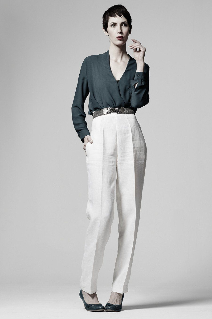 Long, tapered, 1920\'s inspired trousers sewing pattern by Ralph Pink ...
