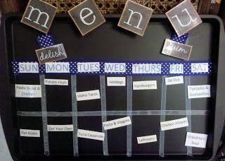 Magnetic Menu Board. #menuboard #organize #kitchen #whilehewasnapping #järjestys #organisoi #säilytys #keittiö