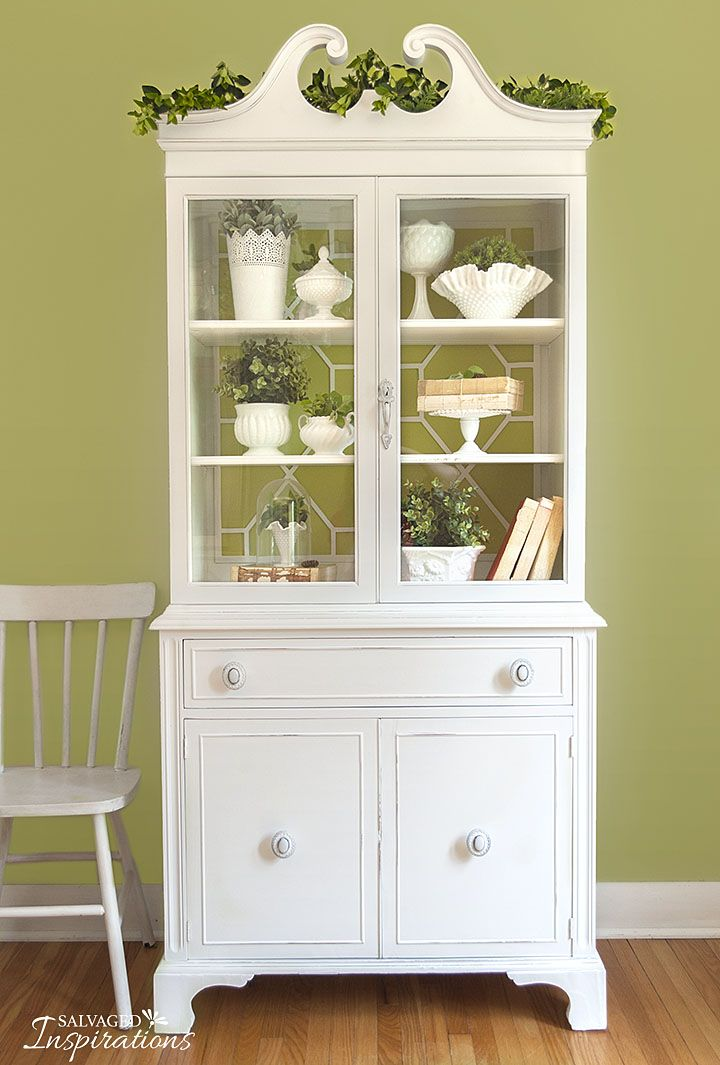 How To Remove Fretwork Repurpose It Painted China Cabinets Farmhouse China Cabinet China Cabinet Decor