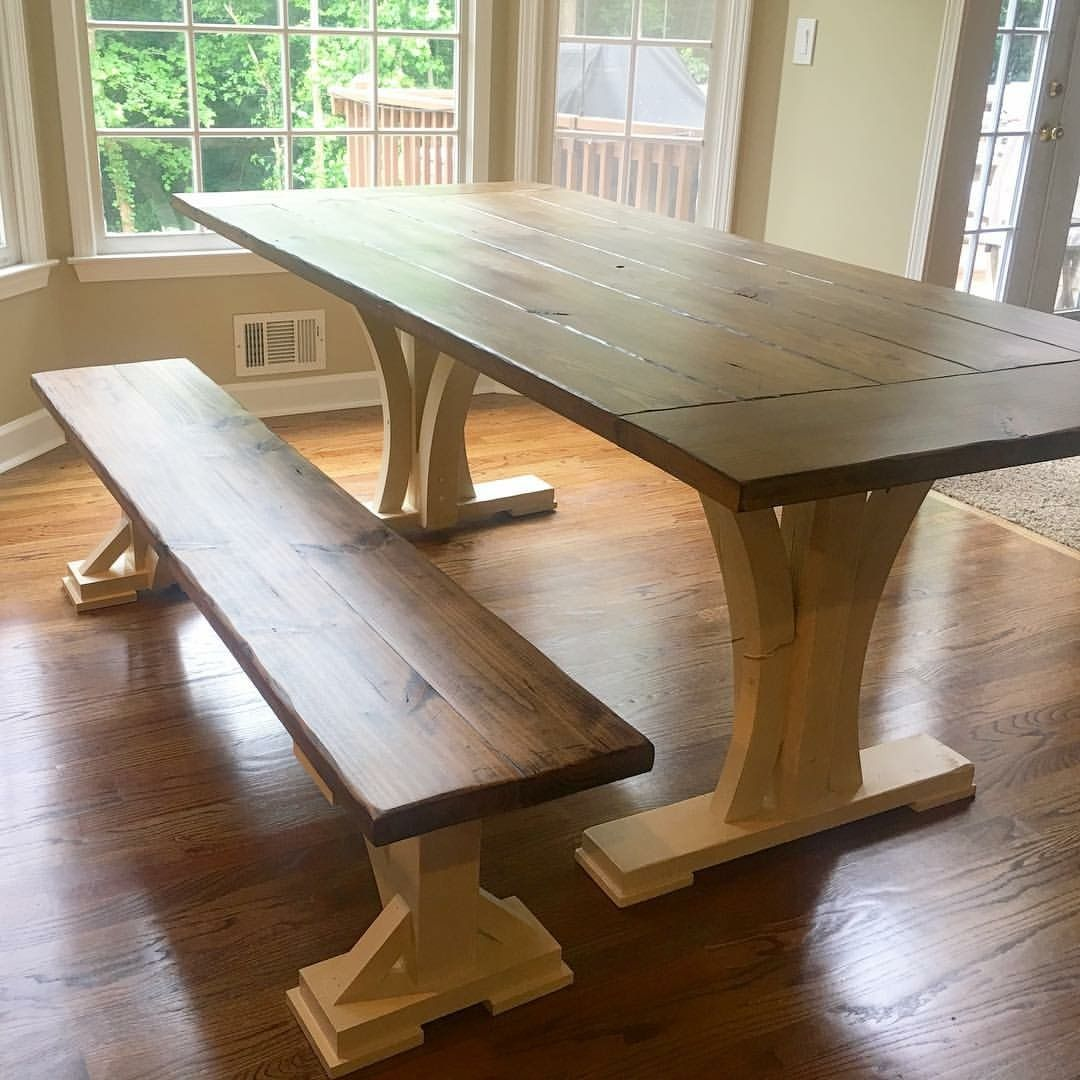 One of a kind farmhouse table made by southern merle