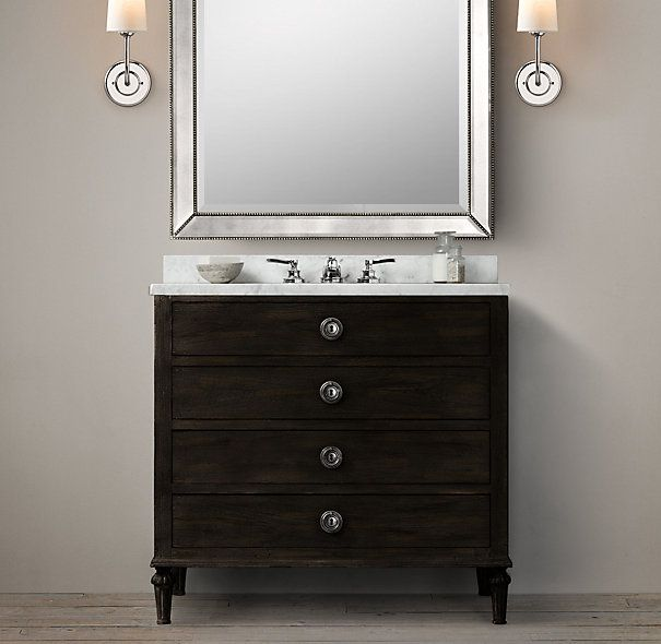 Bathroom Vanity Hardware maison single vanity sink - restoration hardware | d's bathroom