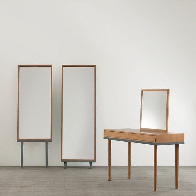 Modern Floor Standing Mirrors on Legs in Oak | Floor standing mirror ...