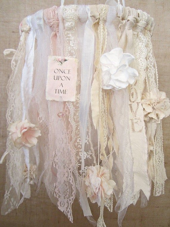 Photo of Baby Mobile, Baby Girl Mobile, Shabby Chic Nursery Decor, Shabby Chic Baby Nursery Decor, Vintage Baby Girl Nursery Decor, Boho Decor
