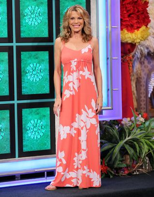 Vanna White in a Cleopatra dress in navy galaxy! | Spotted ...