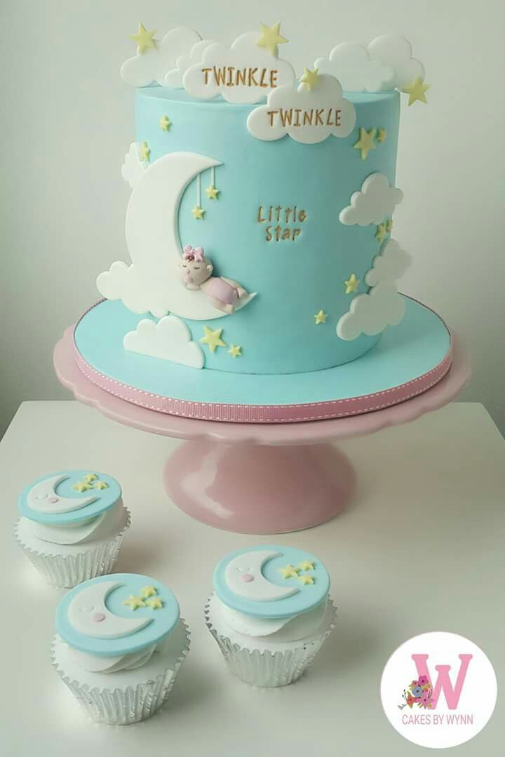 Twinkle Twinkle Little Star Baby Boy Shower Cakes With Images
