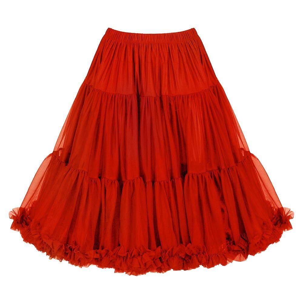 EXTRA VOLUME Red Net Vintage Rockabilly 50s Petticoat