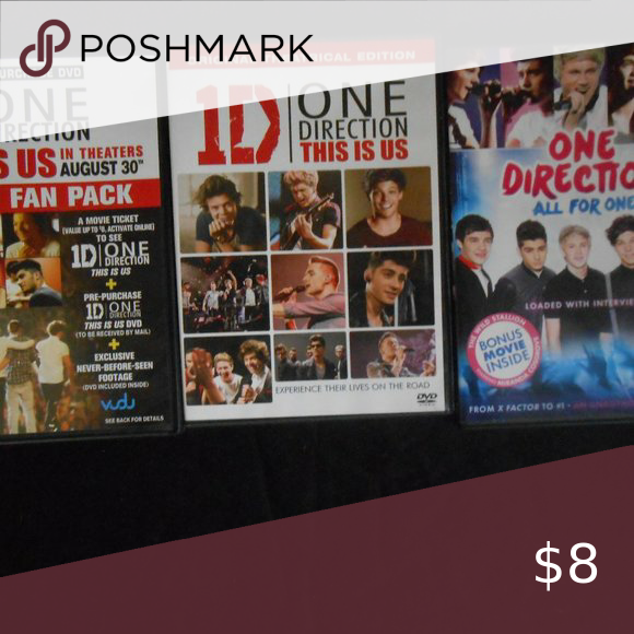 1d 1 Direction Dvd Lot This Is Us Movie Dvd Directions