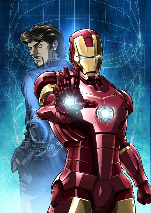 Iron Man Marvel movie posters, Iron man, Anime