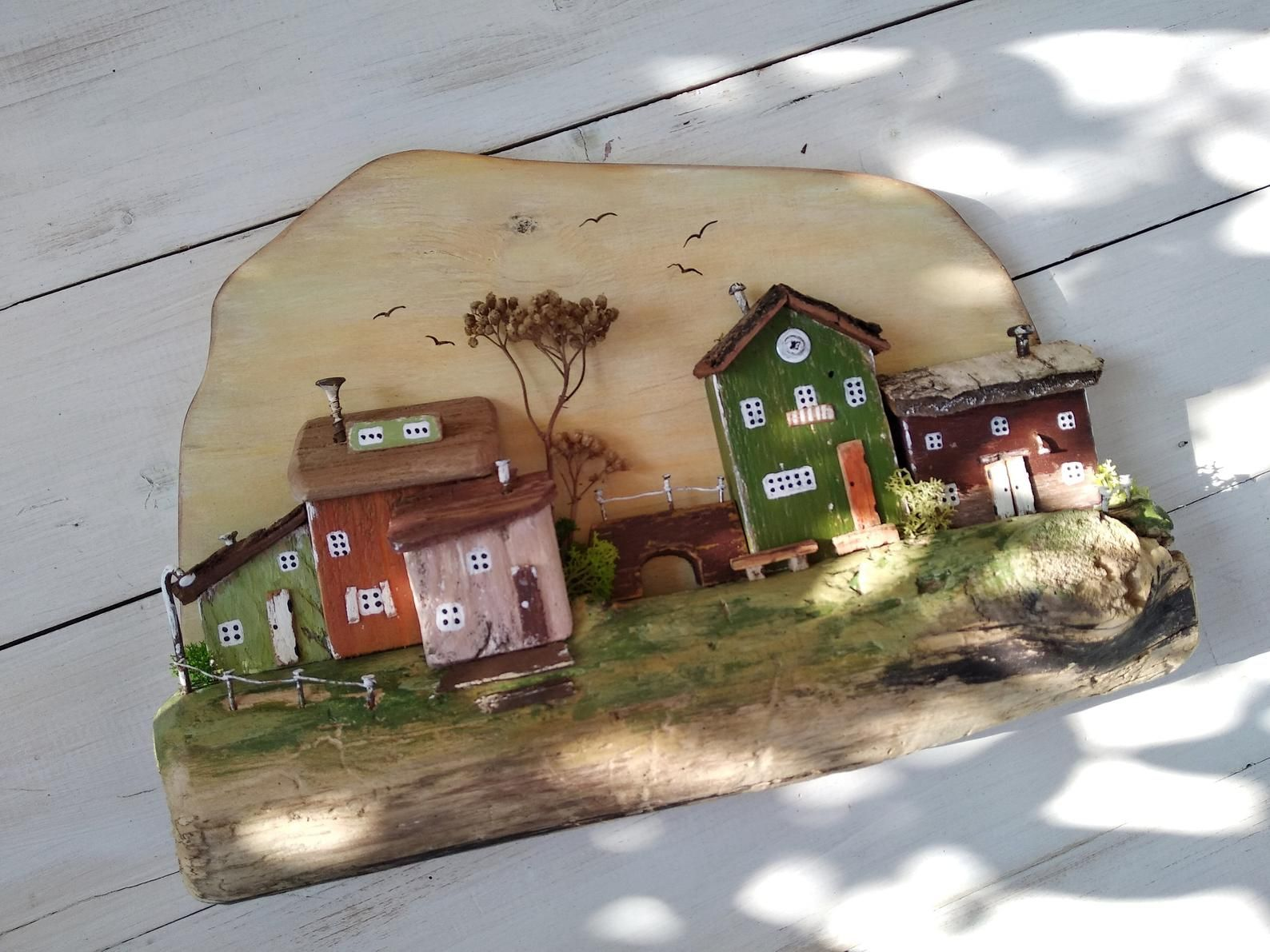Photo of Items similar to Key holder for wall, Driftwood Houses, Driftwood key holder, Wooden nautical decor, 5th anniversary gift, Housewarming Gift on Etsy