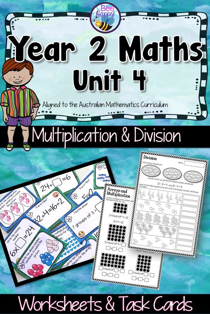 Australian Curriculum Multiplication & Division Worksheets and Task ...