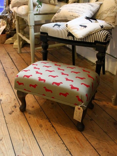Emily Bond Red Dachshund Foot Stool   No44 Homeworks