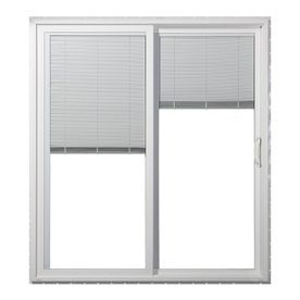 Jeld Wen 59 5 In Dual Pane Blinds Between The Glass Vinyl Sliding