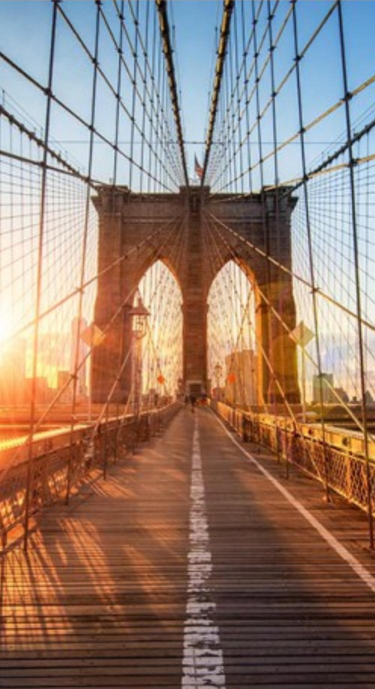 Puente De Brooklyn Nueva York Puente Estructura Iluminacionnatural Peatonal Brooklyn Bridge Brooklyn North America Travel