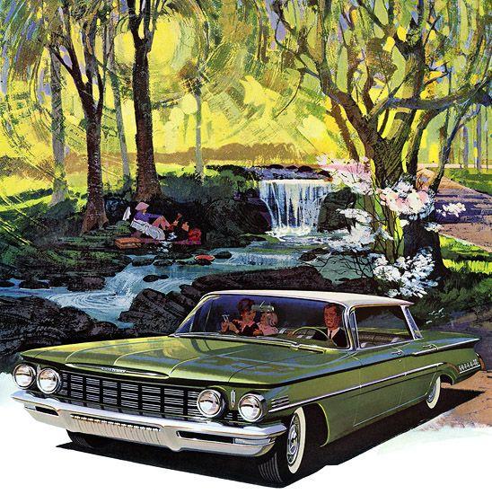 Classic Car Art Oldsmobile
